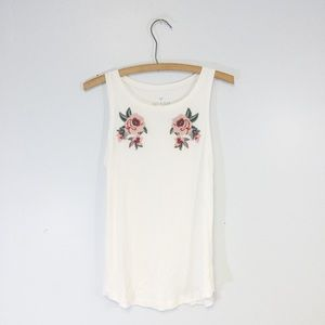 {AEO} Soft + Sexy Floral Embroidered Tank